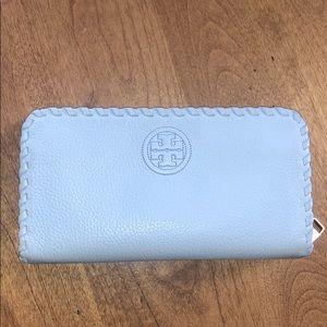 Tory Burch powder blue wallet
